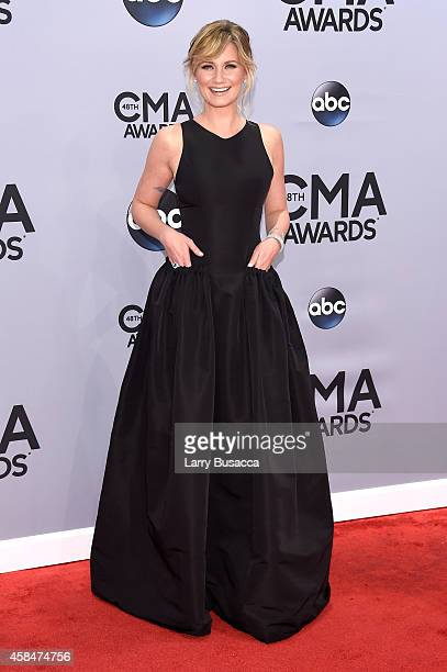 Jennifer Nettles attends the 48th annual CMA Awards at the Bridgestone Arena on November 5 2014 in Nashville Tennessee