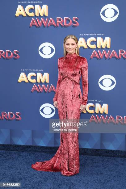 Jennifer Nettles attends the 53rd Academy of Country Music Awards at MGM Grand Garden Arena on April 15 2018 in Las Vegas Nevada