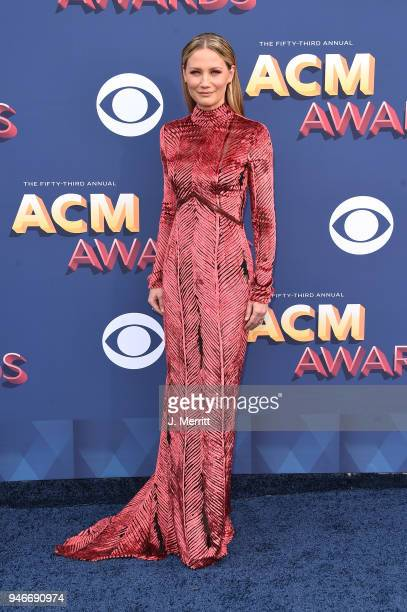 Jennifer Nettles attends the 53rd Academy of Country Music Awards at the MGM Grand Garden Arena on April 15, 2018 in Las Vegas, Nevada.