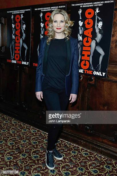Jennifer Nettles attends the after party to celebrate Jennifer Nettles Carly Hughes join Broadway's Chicago After Party at Hurley's Saloon on...