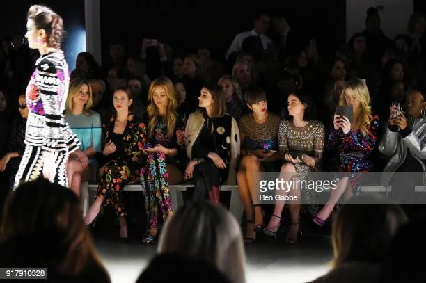 Jennifer Nettles Brittany Snow Petra Nemcova Olivia Palermo Jackie Cruz Leigh Lezark Chloe Lukasiak and Kari Faux attend the Naeem Khan front row...