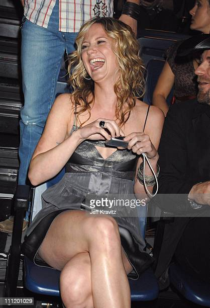 Jennifer Nettles during 2007 CMT Music Awards Backstage and Audience at The Curb Event Center at Belmont University in Nashville Tennessee United...