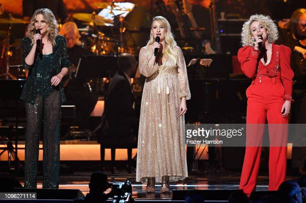 Jennifer Nettles Margo Price and Cam perform onstage during MusiCares Person of the Year honoring Dolly Parton at Los Angeles Convention Center on...