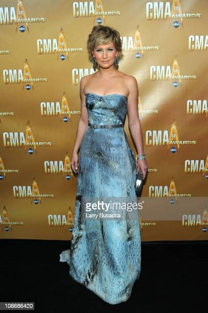 Jennifer Nettles of Sugarland attend the 44th Annual CMA Awards at the Bridgestone Arena on November 10 2010 in Nashville Tennessee