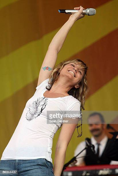 Jennifer Nettles of Sugarland performs during the 40th Annual New Orleans Jazz & Heritage Festival Presented by Shell at the Fair Grounds Race Course...