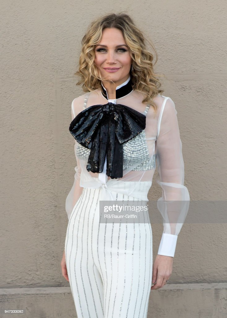 Jennifer Nettles of the country duo 'Sugarland' is seen at 'Jimmy Kimmel Live' on April 16, 2018 in Los Angeles, California.