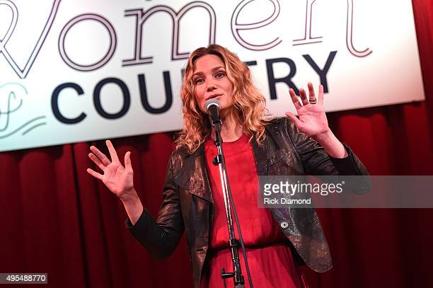 Jennifer Nettles performs at 2015 Next Women of Country Event at City Winery Nashville on November 3 2015 in Nashville Tennessee