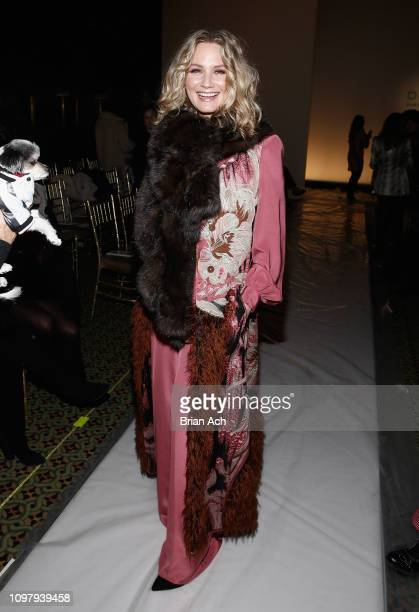 Jennifer Nettles poses backstage for Dennis Basso fashion show during New York Fashion Week The Shows at Cipriani 42nd Street on February 11 2019 in...