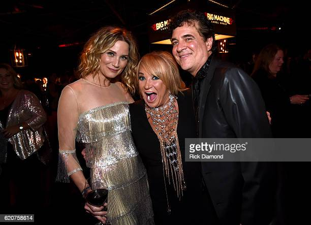 Jennifer Nettles Tanya Tucker and Scott Borchetta attend the Big Machine Label Group's celebration of the 50th Annual CMA Awards at Marathon Music...