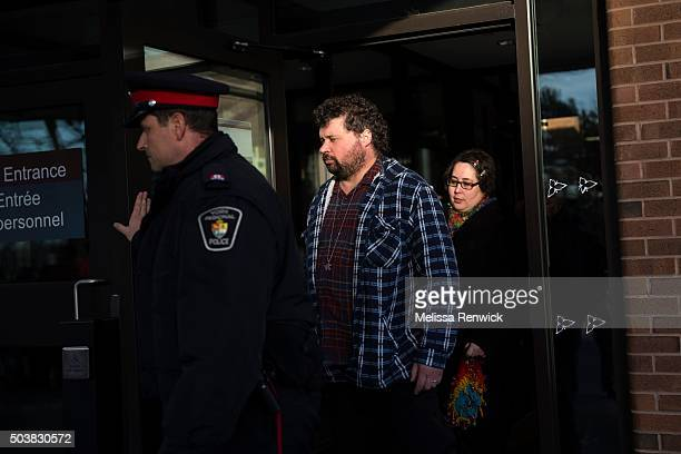 TORONTO ON JANUARY 06 Jennifer NevilleLake and her husband Edward leave the Newmarket Courthouse to speak to the media after Marco Muzzo to pleads...