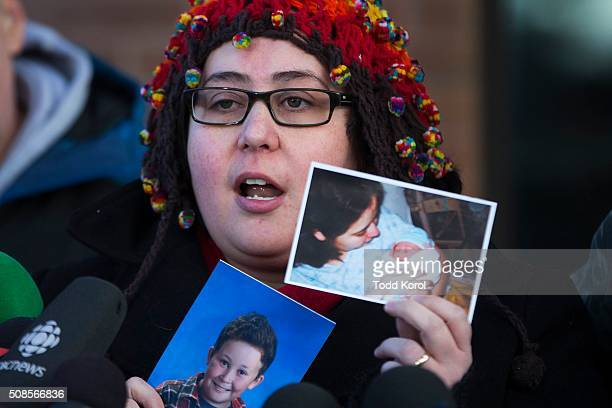 Jennifer Neville-Lake shows photos of two of her children after Marco Muzzo, who killed their children while driving drunk, was released on a million...