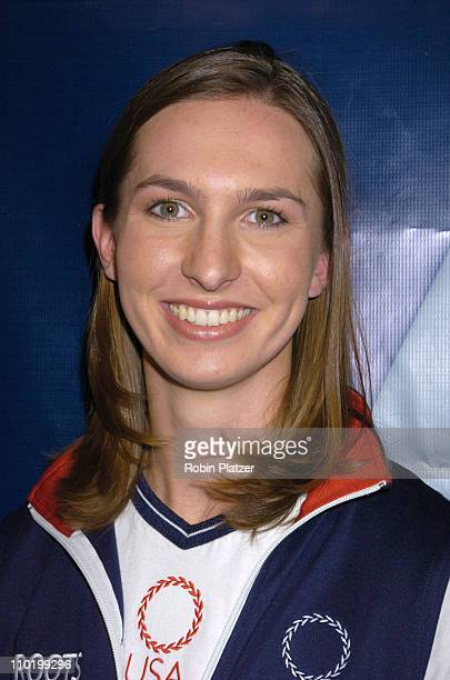 Jennifer Nichols Archery during The Launch of the 2004 US Olympic Team Collection by Roots by Olympic Athletes at The NBC Experience Store in New...