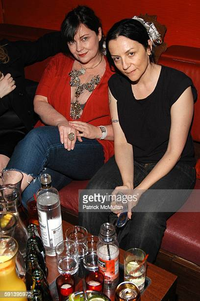 Jennifer Nicholson and Kelly Cutrone attend CocaCola Make It Real Launch Party with Jennifer Nicholson amd Shepard Fairey at Marquee on February 10...