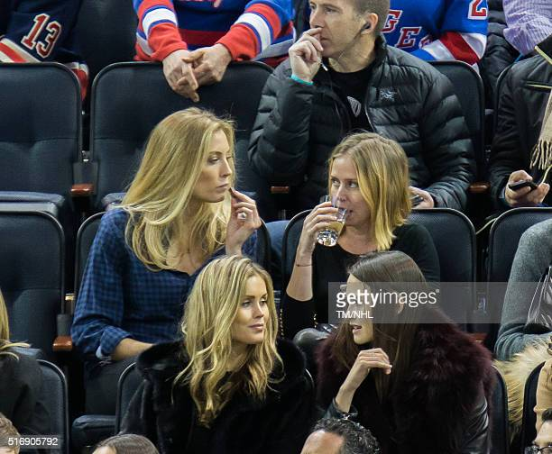 Jennifer Ohlsson attends New York Rangers Vs Florida Panthers game at Madison Square Garden on March 21 2016 in New York City