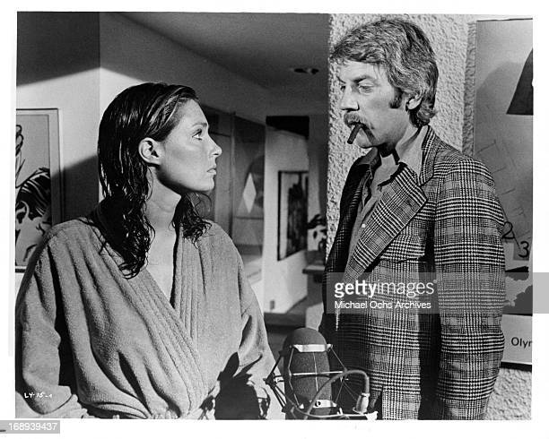 Jennifer O'Neill and Donald Sutherland in a scene from the film 'Lady Ice' 1973