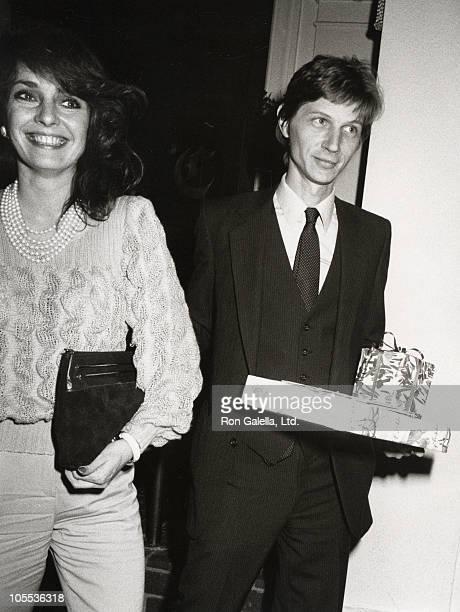Jennifer O'Neill and John Lederer during Jennifer O'Neill at Chasens Restaurant February 20 1983 at Chasens Restaurant in Beverly Hills California...