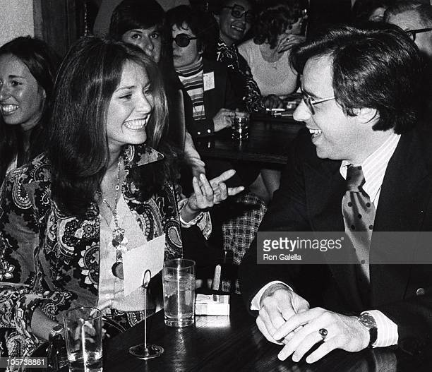 Jennifer O'Neill and Peter Bogdanovich during Academy of TV Arts Sciences Luncheon May 7 1973 at Pub Theatrical in New York City New York United...