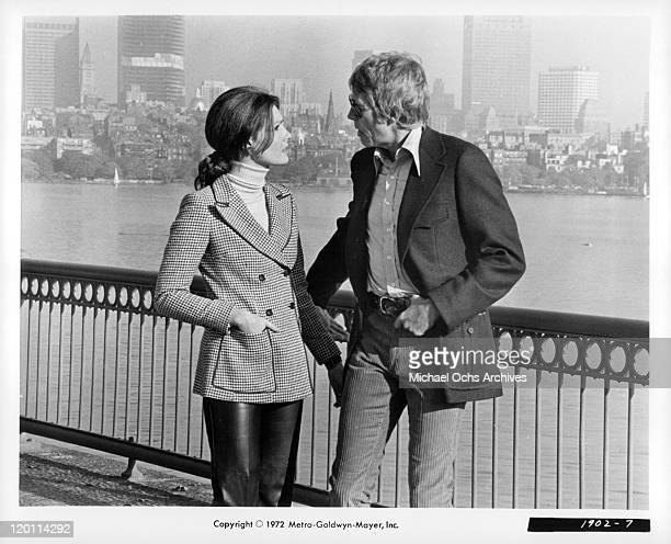 Jennifer O'Neill is proposed to from James Coburn in a scene from the film 'The Carey Treatment' 1972