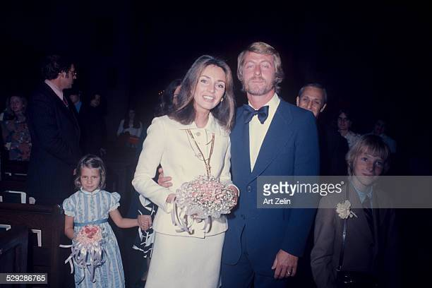 Jennifer O'Neill with her husband Joseph Roster on their wedding day with their family 1972