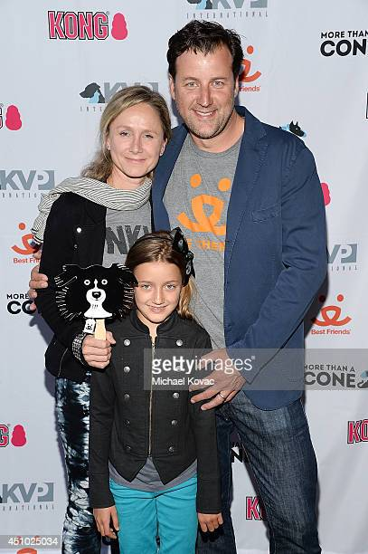 Jennifer Parker and Rudy van Zyl enjoy the 'More Than a Cone' art auction and campaign launch benefiting Best Friends Animal Society in Los Angeles...