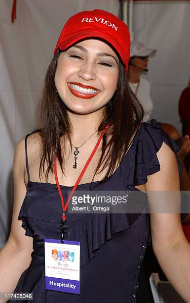 Jennifer Pena during Entertainment Industry Foundation and Revlon Present the 11th Annual Run/Walk for Women Red Carpet at Los Angeles Coliseum in...