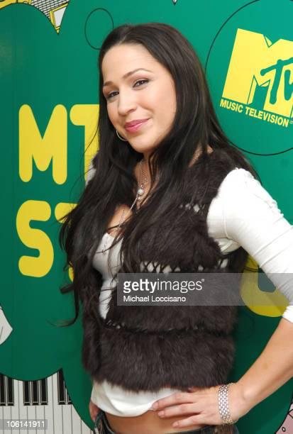 Jennifer Pena during Jennifer Pena Visits MTV Tr3s' MiTRL February 23 2007 at MTV Studios Times Sqaure in New York City New York United States