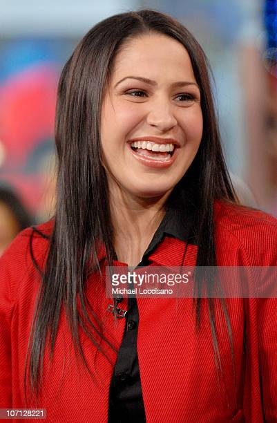 Jennifer Pena during NeYo Diego Luna and Obe Visit and Jennifer Pena Guest Host MTV Tr3s' MiTRL April 24 2007 at MTV Studios Times Square in New York...