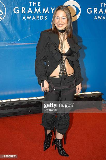 Jennifer Pena during The 45th Annual GRAMMY Awards Arrivals at Madison Square Garden in New York NY United States
