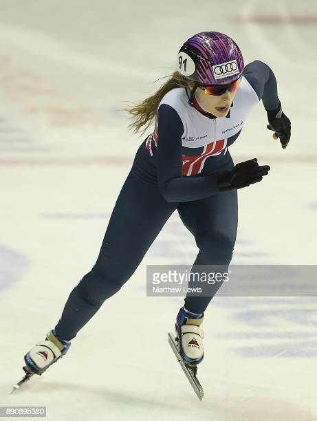 Jennifer Pickering of Great Britain pictured during a media day for the Athletes Named in the GB Short Track Speed Skating Team for the PyeongChang...