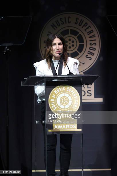 Jennifer Pyken winner of Best Music Supervision Television Drama for 'This Is Us' speaks onstage during the 9th Annual Guild of Music Supervisors...