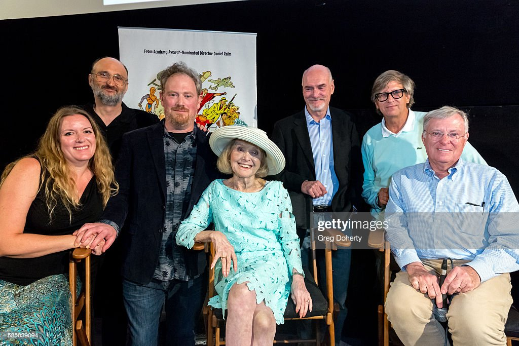 Jennifer Raim, Guest, Daniel Raim, Lillian Michelson, Jim Bissell, Rick Carter, and panelist during a panel discussion following the Premiere Of 'Harold And Lillian: A Hollywood Love Story' at the Egyptian Theatre on July 31, 2016 in Hollywood, California.