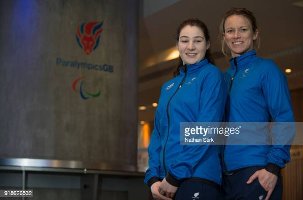 Jennifer Rehoe and Menna Fitzpatrick of Great Britain pose for a photograph during the Great Britain Winter Paralympic Media Day on February 15 2018...