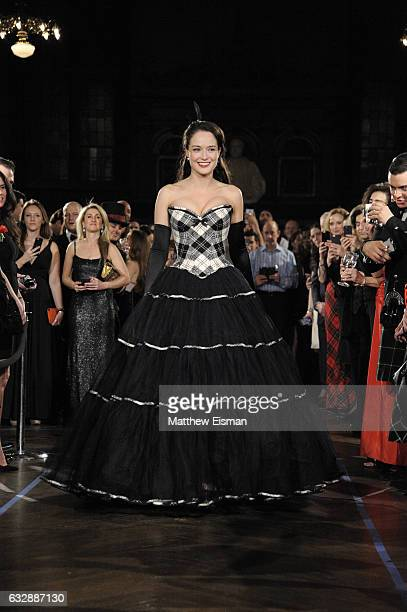 Jennifer Reoch walks the runway during Dressed To Kilt Ball Fashion Show presented by Usquaebach Scotch Whisky The High Line Hotel SugarBearHair at...