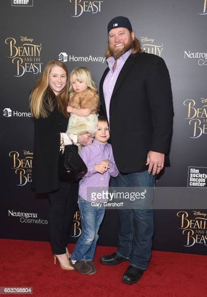 Jennifer Richmond Eloise Mangold Matthew Mangold and Nick Mangold attend the 'Beauty And The Beast' New York screening at Alice Tully Hall Lincoln...