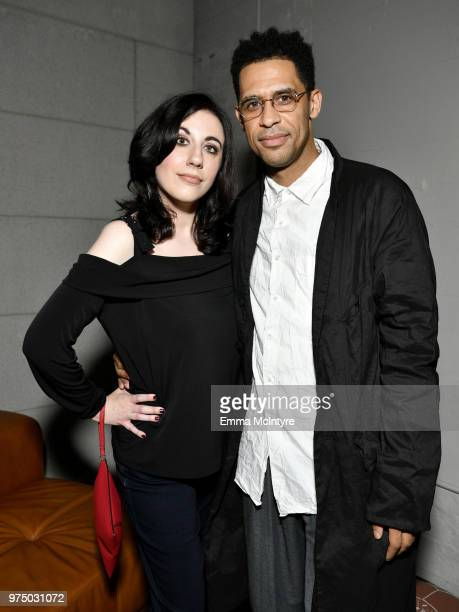 Jennifer Risinger and Rashad Haughton attend MAC Cosmetics Aaliyah Launch Party on June 14 2018 in Hollywood California