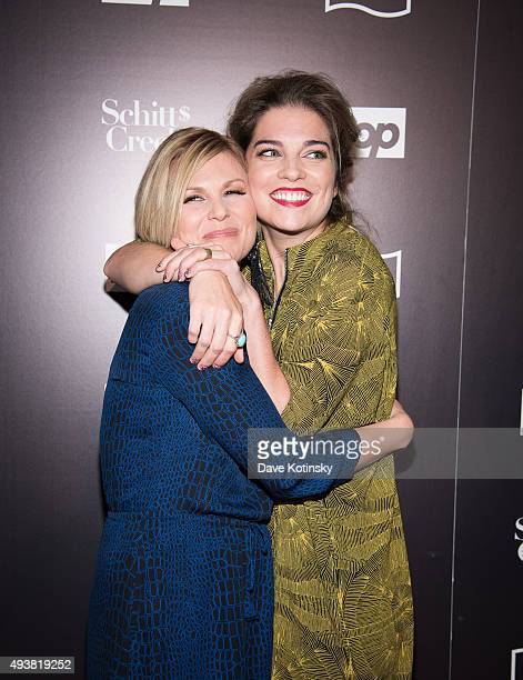 Jennifer Robertson and Annie Murphy attends the 11th Annual New York Television Festival Shitt's Creek Screening at SVA Theater on October 22 2015 in...