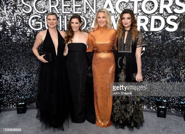 Jennifer Robertson, Sarah Levy, Catherine O'Hara, and Annie Murphy attend the 26th Annual Screen Actors Guild Awards at The Shrine Auditorium on...
