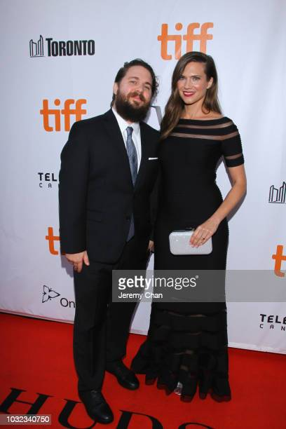 Jennifer Robideau and guest attend the 'What They Had' premiere during 2018 Toronto International Film Festival at Roy Thomson Hall on September 12...