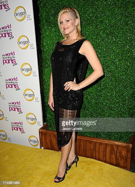 Jennifer Rovero attends Oxygen's The World According To Paris premiere party at Tropicana Bar at The Hollywood Rooselvelt Hotel on May 17 2011 in...