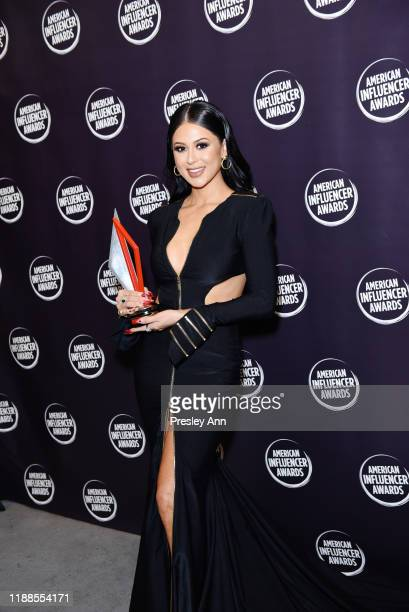 Jennifer Ruiz poses backstage during the 2nd Annual American Influencer Awards at Dolby Theatre on November 18, 2019 in Hollywood, California.