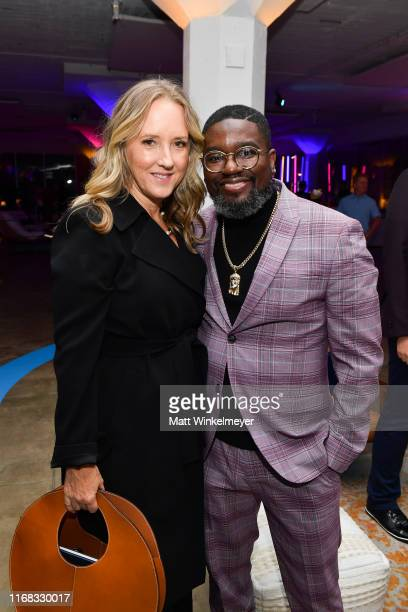 Jennifer Salke and Lil Rel Howery attend the premiere of Amazon Studios' Brittany Runs A Marathon on August 15 2019 in Los Angeles California