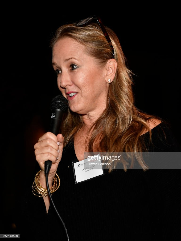 Jennifer Salke,speak at the BBBSLA And The Hollywood Reporter's Women In Entertainment Mentor Reunion Cocktail Reception at Private Residence on October 5, 2017 in Los Angeles, California.