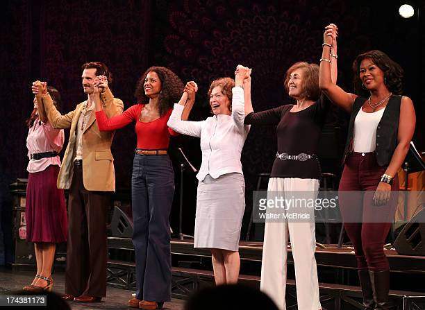 Jennifer Sanchez Frederick Weller Renee Elise Goldsberry Gretchen Cryer Nancy Ford and Christina Sajous during the Encores OffCenter Production...