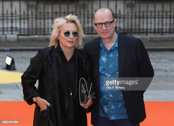 Jennifer Saunders and Ade Edmondson attend the preview party for the Royal Academy Summer Exhibition at Royal Academy of Arts on June 7 2017 in...