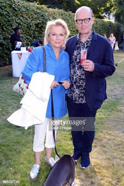 Jennifer Saunders and Ade Edmondson attend the UK premiere of 'Patrick' at an exclusive private London garden on June 27 2018 in London England