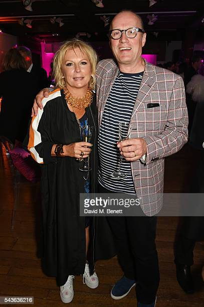Jennifer Saunders and Ade Edmondson attend the World Premiere after party of 'Absolutely Fabulous The Movie' at Liberty on June 29 2016 in London...