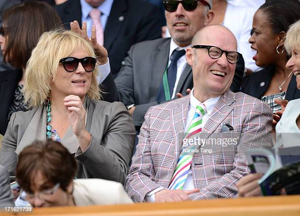 Jennifer Saunders and Adrian Edmondson attend Day 4 of the Wimbledon Tennis Championships 2013 at Wimbledon on June 27 2013 in London England