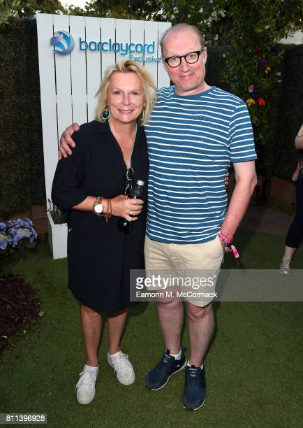 Jennifer Saunders and Adrian Edmondson attend the Barclaycard Exclusive British Summer Time Festival at Hyde Park on July 9 2017 in London England