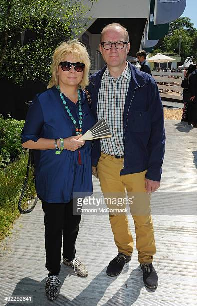 Jennifer Saunders and Adrian Edmondson attend the VIP preview day of The Chelsea Flower Show at The Royal Hospital Chelsea on May 19 2014 in London...
