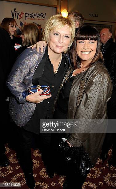 Jennifer Saunders and Dawn French arrive at the Gala Press Night performance of 'Viva Forever' at the Piccadilly Theatre on December 11 2012 in...